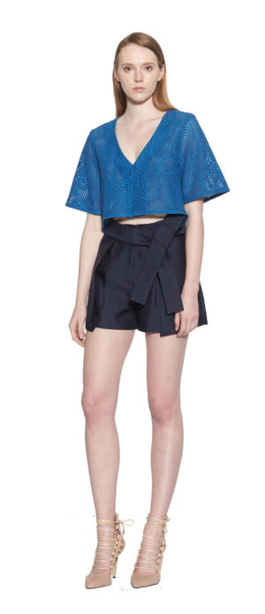 daa42cc2def Lia Eyelet Pleated Shorts