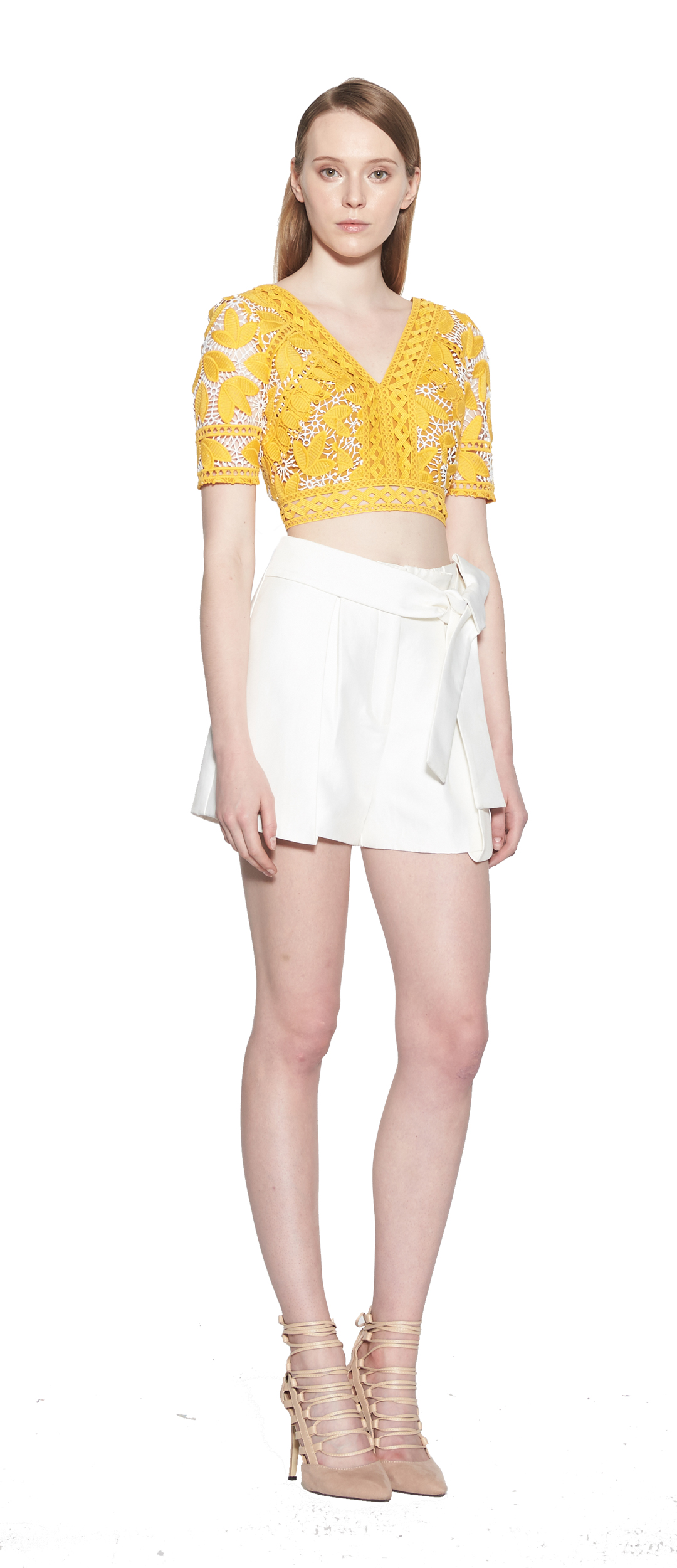 45948a1b356bb2 Marianna Embroidered Cropped Top