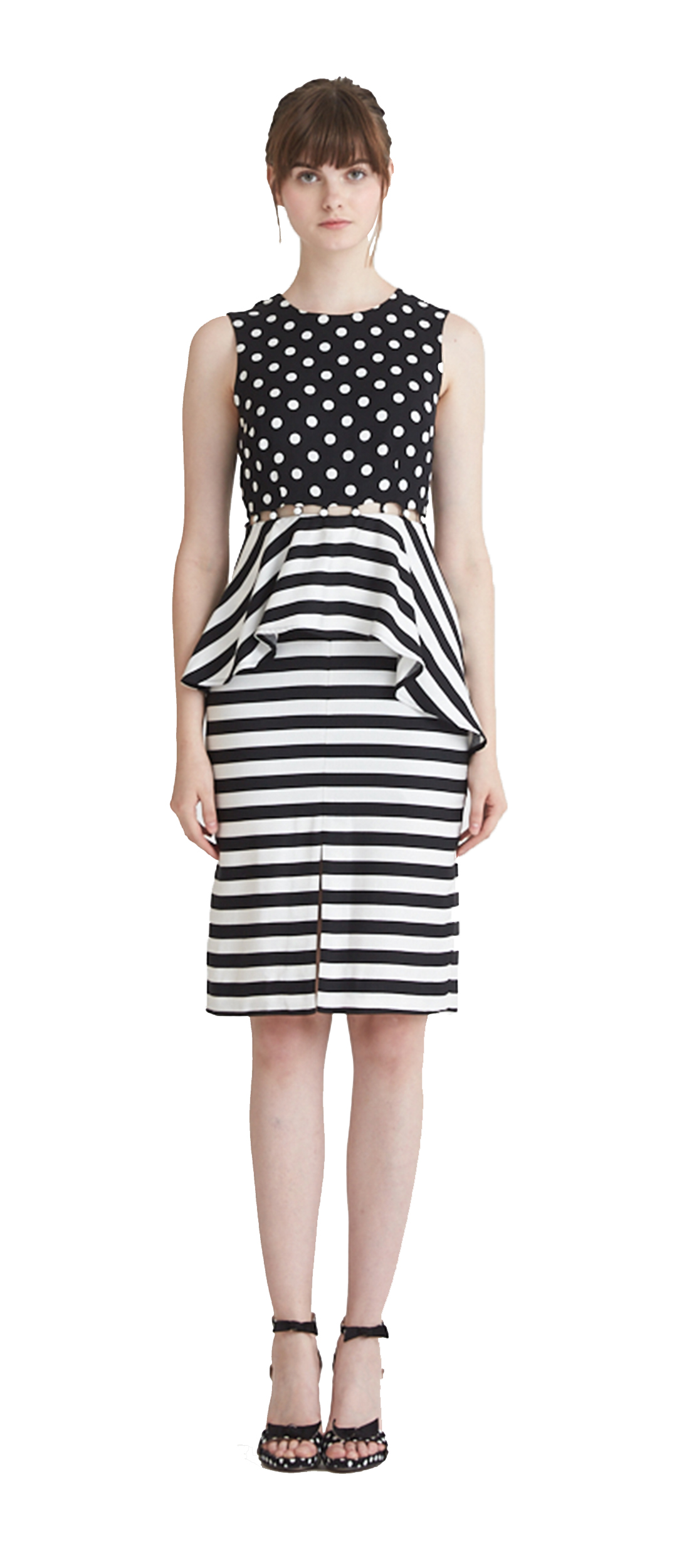 138b4e9565 JULIA POLKA STRIPE CONVERTIBLE SHIFT DRESS