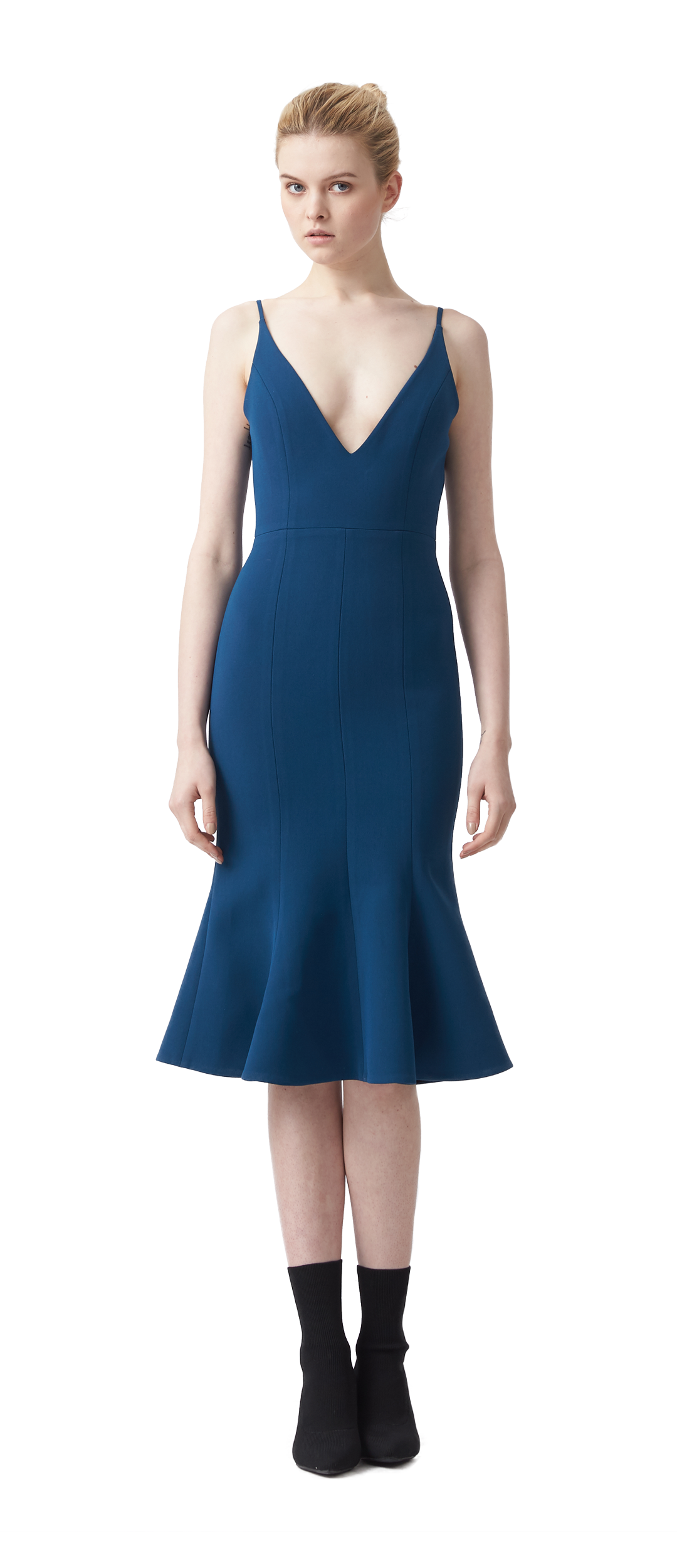 31594b363e9df CAMILLE BONDED FIT FLARE DRESS  289.00