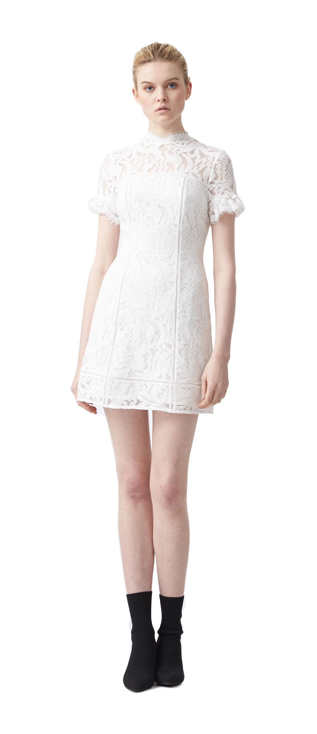 3bb3f0efa94 STACEY A LINE LACE DRESS  279.00. Product Product. AVA EMBROIDERED FLUTTER  SLEEVE ...